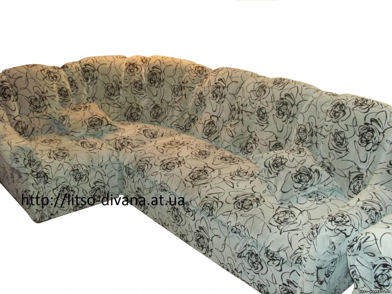 Ткань для мебели флок на флоке мото бежевого оттенка